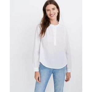 MADEWELL shirred popover top S